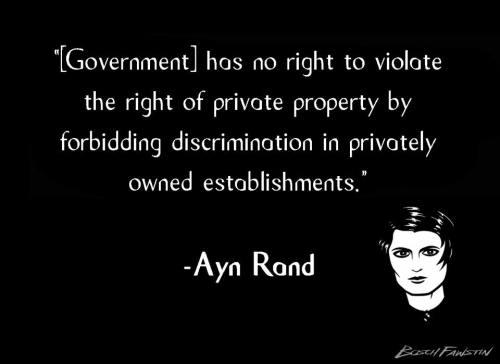 Rand on discrimination